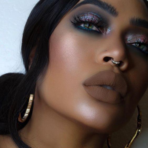 Maquiagem pele morena e negra