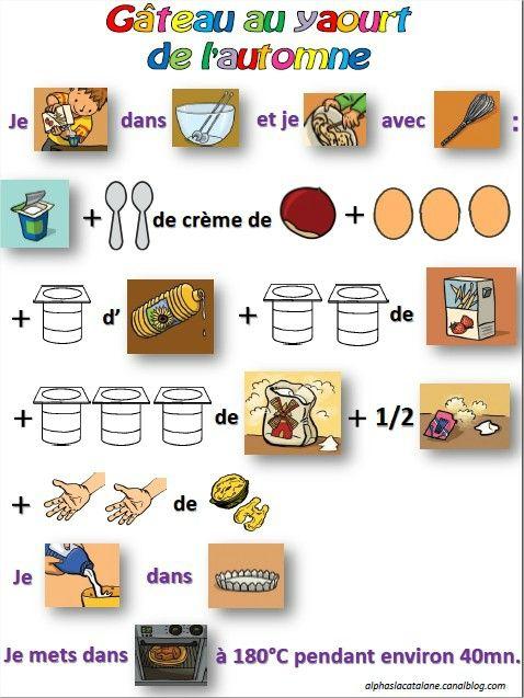 Recette du g teau au yaourt de l 39 automne activit s - Cuisine action catalogue ...
