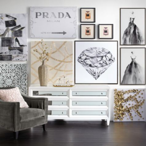 Prada Milan From Z Gallerie Wall Decor Living Room Wall Decor Bedroom Rooms Home Decor