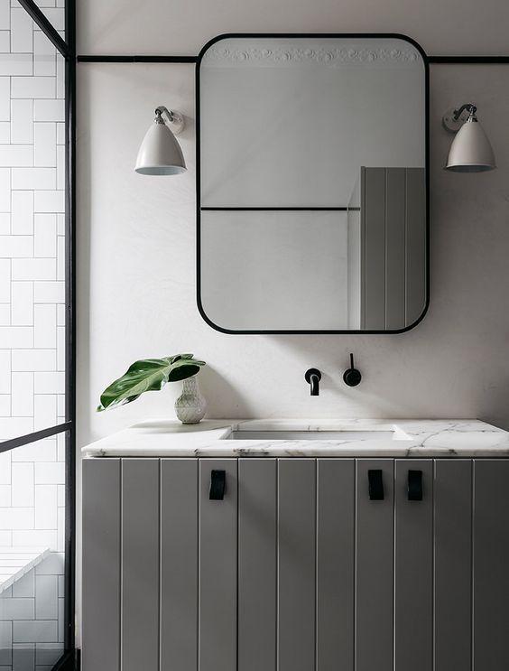 Black Bathroom Mirrors Mirror, Black Mirrored Bathroom Cabinet