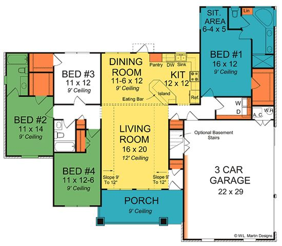 Golden oak home plans
