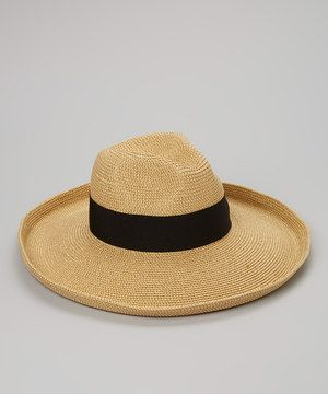 Loving this Jeanne Simmons Accessories Gold & Black Tweed Fedora Sunhat on #zulily! #zulilyfinds