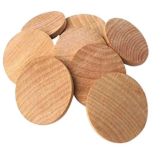 Axesickle Natural Wood Slices 15 Inch Unfinished Round Wood 50pcs These Round Wood Coins For Arts Craft Wood Craft Supplies Snowman Wreath Wood Craft Projects