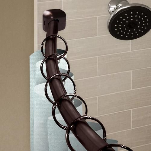 Hart Harlow1 In Shower 42 In To 72 In Bronze Steel Curved