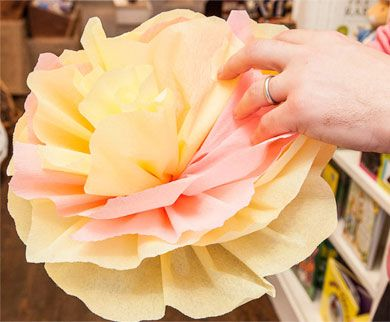 Tissue Paper Flowers for Spring bulletin board!