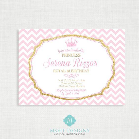 princess crown invitation template