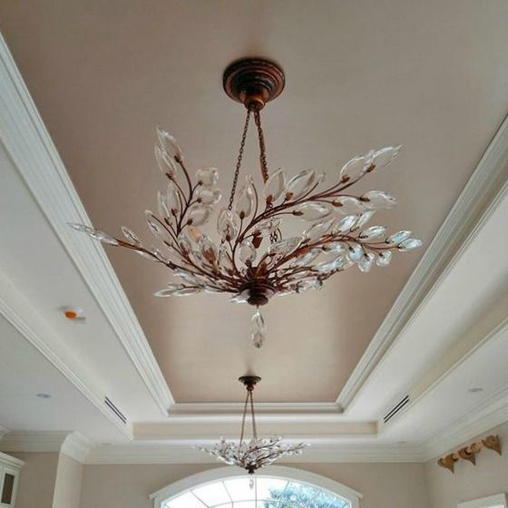 Beautiful Ceiling With Champagne Metallic Paint From Modern Masters Metallic Ceiling Project Inspir Colored Ceiling Metallic Paint Walls Ceiling Paint Colors