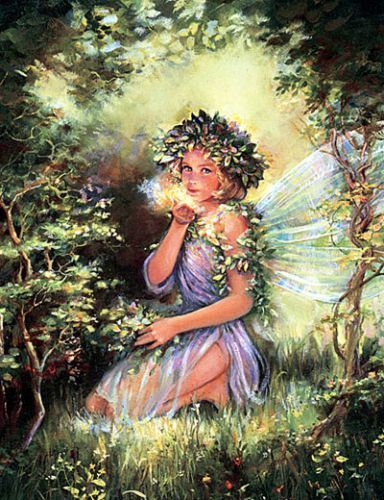 Fairy Kisses original painting by Mary Baxter St Clair