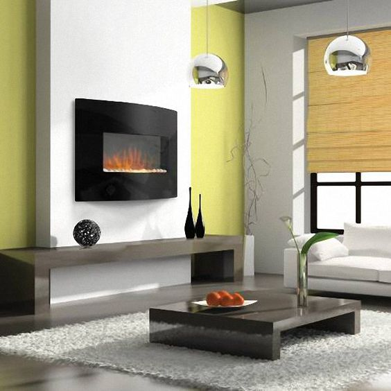 Modern Gas Wall Fireplaces Design Ideas With Living Room Ideas