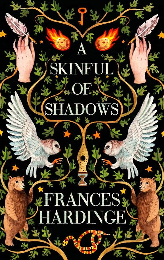 """Cover reveal for my next book, A Skinful of Shadows! Gorgeous artwork by the very talented Aitch of @ciablog."""