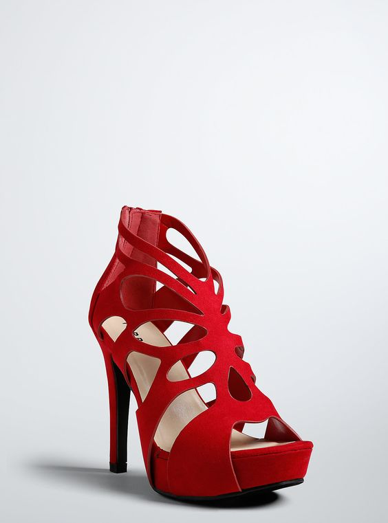 Scallop Heels (Wide Width) RED | My Weakness: SHOES