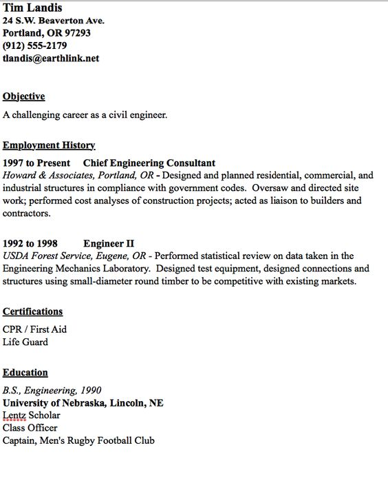Civil Engineer Resume Sample - http\/\/resumesdesign\/civil - oil rig chef sample resume