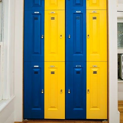 football themed bedroom cool faux lockers painted on the
