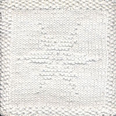 Knitting Pattern Snowflake Dishcloth : Snowflake Knit Dishcloth Pattern Let it snow! This knit dishcloth pattern is ...