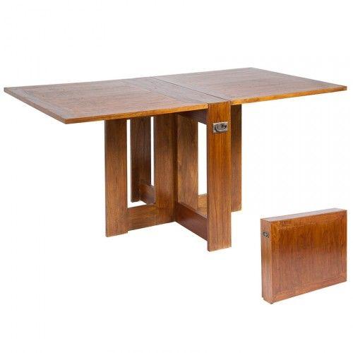 Mesa libro cleo mesa de comedor de estilo colonial - Mesa abatible comedor ...