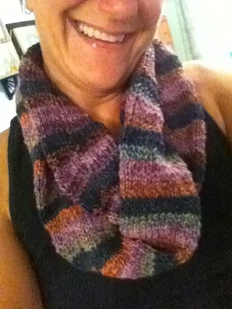 another infinity scarf for marcel - self created - no pattern