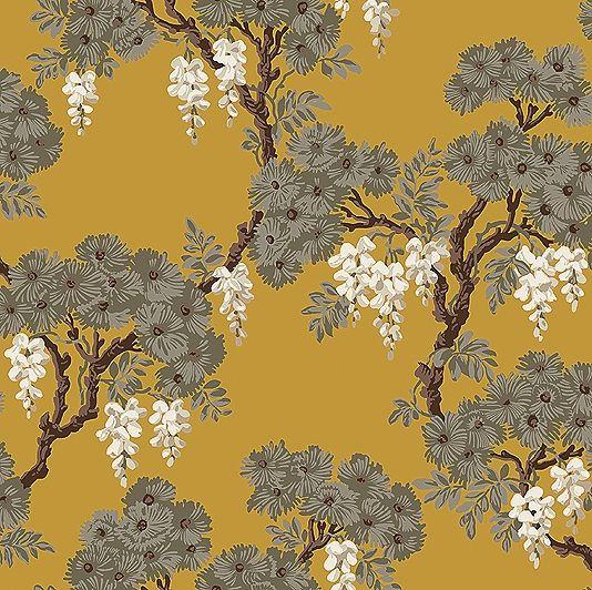 wisteria wallpaper bathroom - photo #2