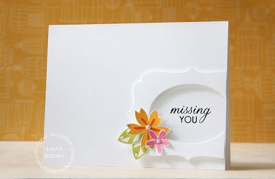 Card by PS DT Laura Bassen using the PS Calico stamp set and Duo Die 2