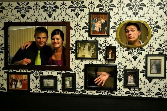 Photo wall made for my daughters wedding.  A great way to remember the weddings of the past while celebrating today. Was hit with the quests.