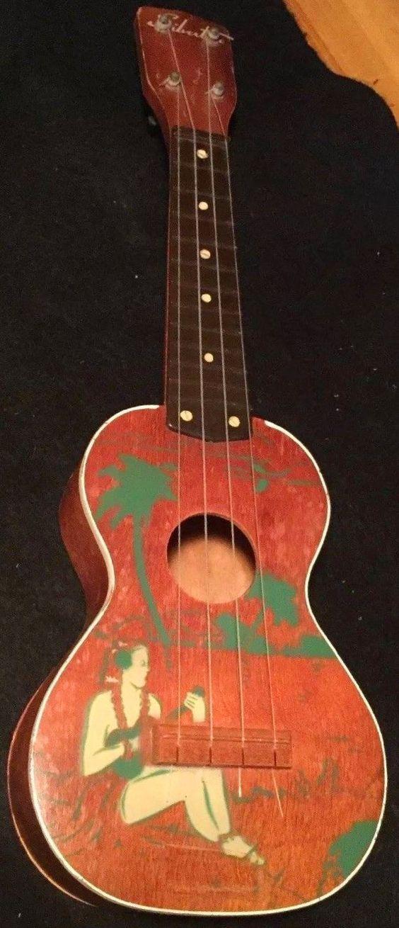 Harmony Silvertone player soprano Ukulele 50s plastic fretboard