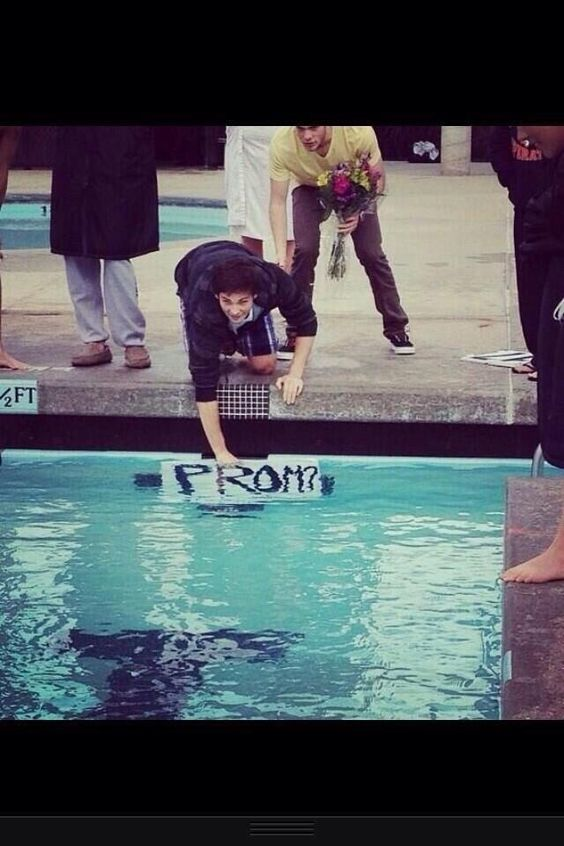 Imagine swimming a 200 and just casually getting asked to prom