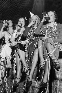 Celebrating the end of alcohol prohibition, Dec. 5, 1933.