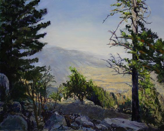 Pastel 16-20 Sandia Mountain over Albuquerque