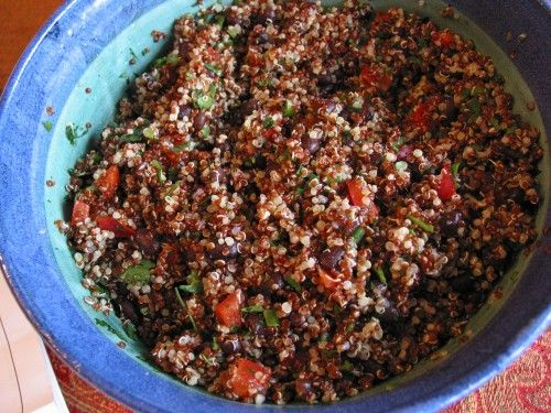 An easy quinoa salad, we paired it with a blackened pork tenderloin the other night. #glutenfree #glutenfreerecipes #quinoa