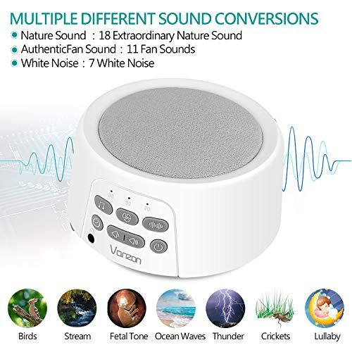 Vanzon White Noise Machine Sound Machine With Baby For Sleeping Relaxation 36 Soothing High Fidelity Nature Sounds Compare And Shop The Best Stuff White Noise Machine Noise Machine Sound Machine