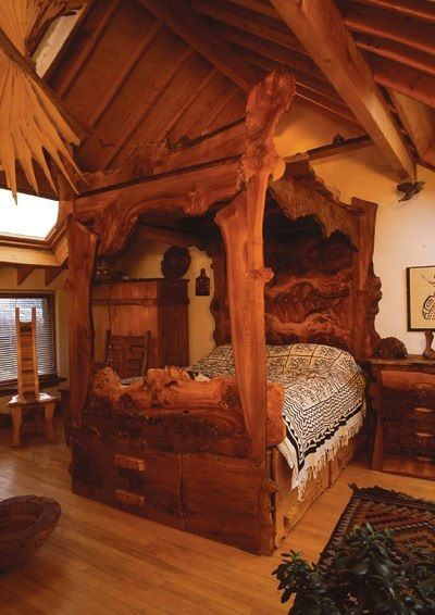 This bedroom appeals to my Viking Ancestry.