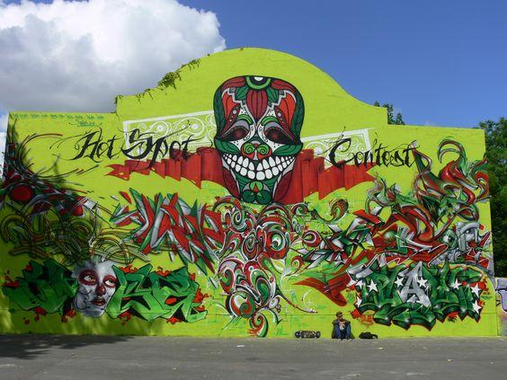 Mur de chistera, Saintes, France