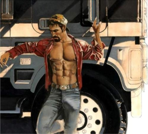 Gay cruising truckstop