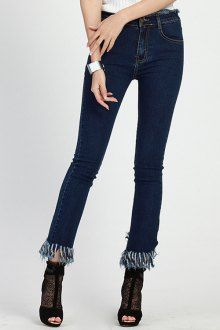 Bleach Wash Wrapped Jeans | High waist Skinny jeans and Skinny
