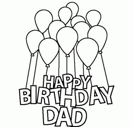 Happy Birthday Dad Coloring Pages For Kids | Birthdays ...