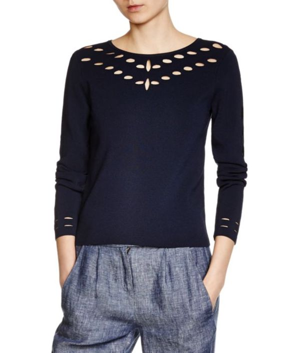 Shopping selection : summer sweater - Maje Mathilde Cutout Sweater