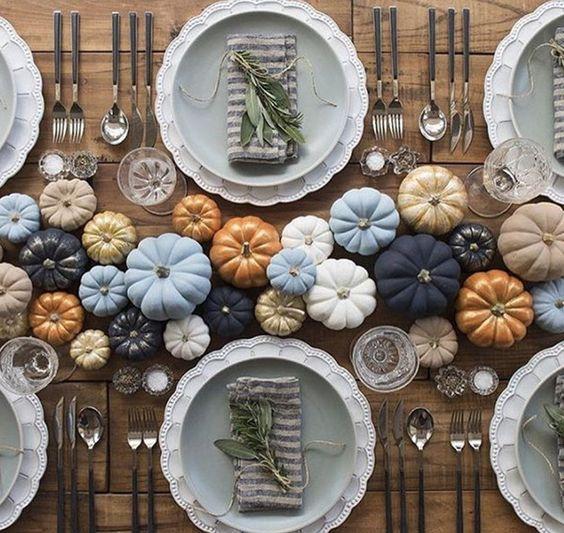 Mini Pumpkin Tablescape - 101 Fabulous Pumpkin Decorating Ideas - Photos