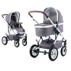 Schicker Kombi-Kinderwagen ab der Geburt. Inklusive Regenschutz und Adapter-Set für Ihre Babyschale.