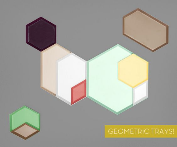awesome geometric trays by Hay