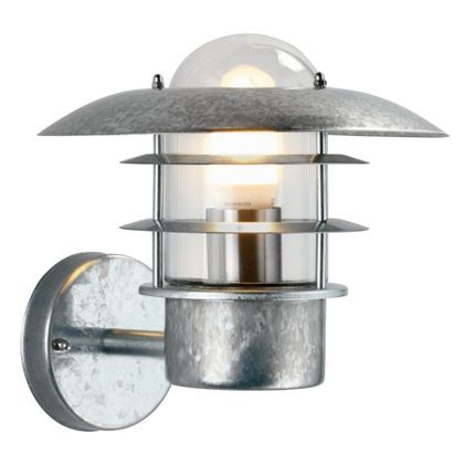 Wall Lights Homebase: UFO - Garden Wall Light - Galvanised Steel at Homebase -- Be inspired and  make,Lighting