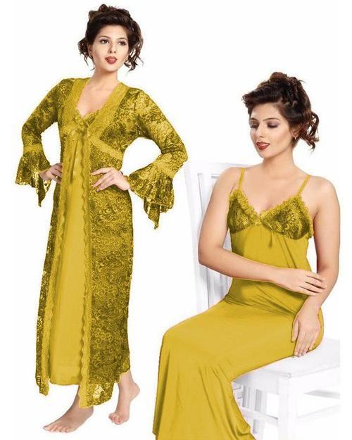 6838a4f4b0 Bridal Golden Nighty - FL-0065 - Flourish 2 Piece Nightwear