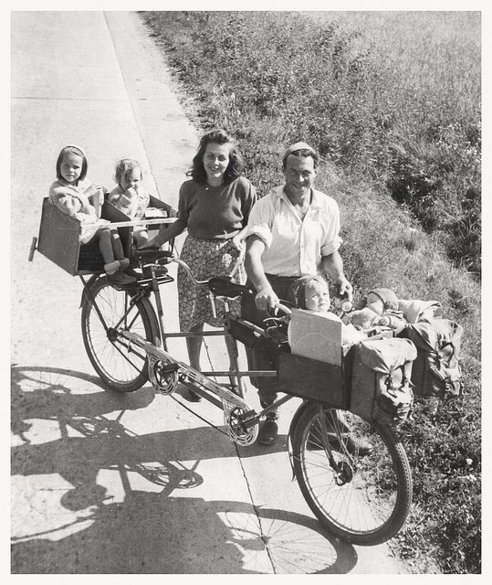 Family Cycling Holiday, 1949. | by Paris-Roubaix: