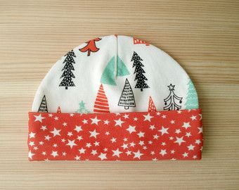 Merry Christmas Tree Organic baby clothes Baby gift baby hats organic cotton beanie toddler hats newborn hat newborn hats