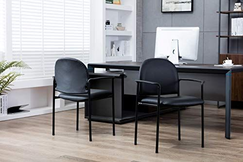 Porthos Home Bt006a Blk Stackable Office Chair With Pvc Upholstery Metal Frame And Arm Rest One Size Black Home Office Chairs Furniture Stacking Patio Chairs