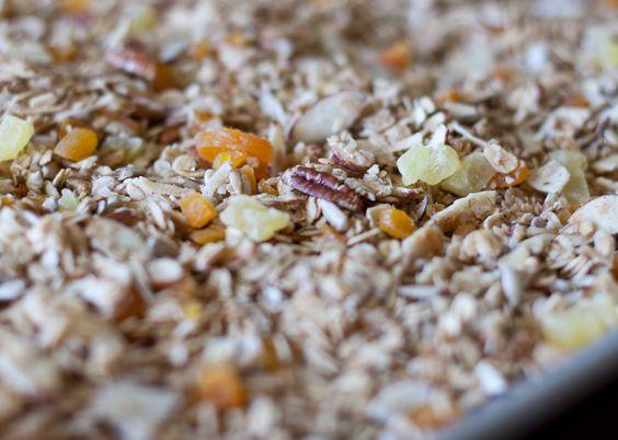 VANola; Granola with Cardamom and dried fruit