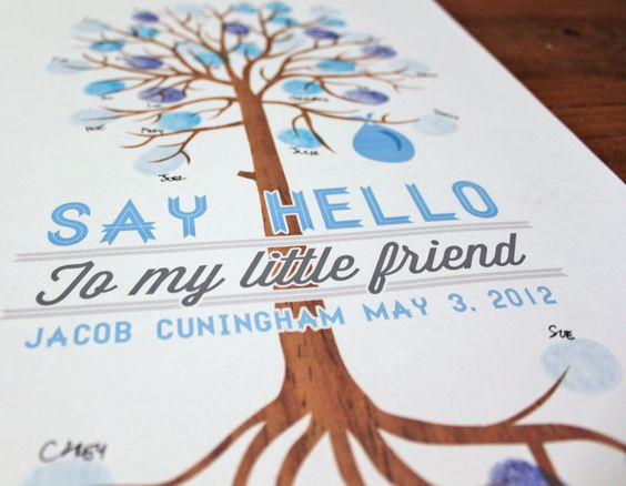 Baby Shower Guest Book Tree. $28.00, via Etsy.