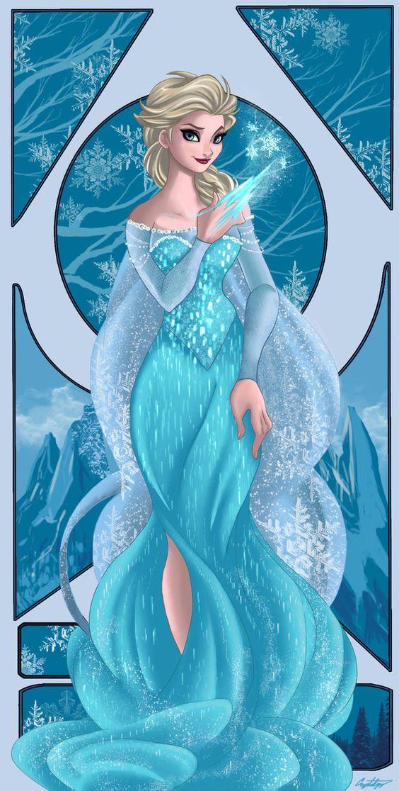 elsa frozen deviantart | Frozen-Elsa by ArtCrawl