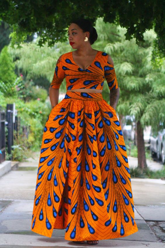 Morning Dew Maxi Skirt with Crop Top Set Plus by tribalgroove: