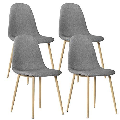 Bonnlo Modern Dining Chairs Set Of 4 Kitchen Fabric Upholstered