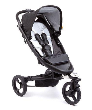 Another great find on #zulily! Silver & Black Monochrome Zen Stroller by bloom baby #zulilyfinds