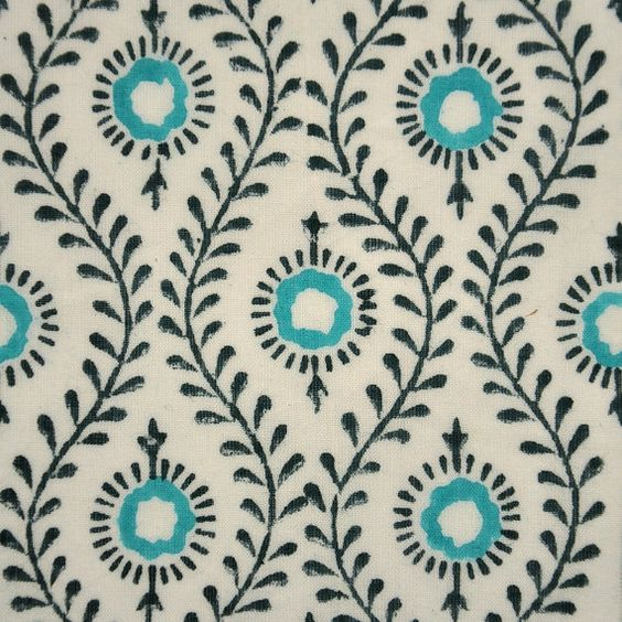 Some of my favorite sources for block printed fabric. All from Etsy.